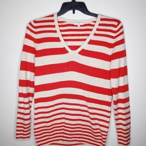 Red and cream Gap sweater